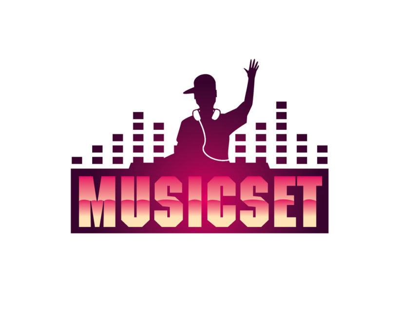 Music DJ logo download PSD and vector