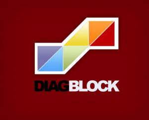 Diagonal Blocks PSD logo template