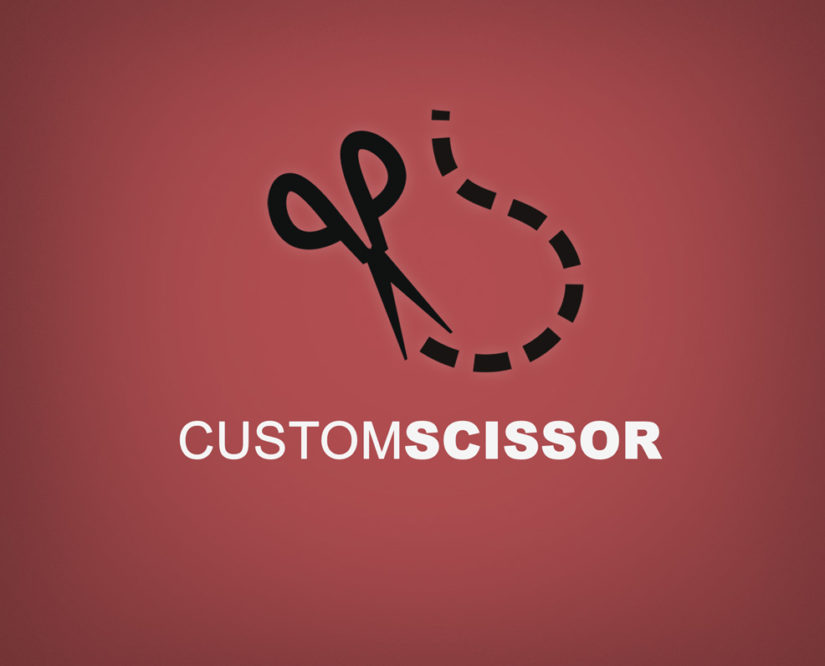scissor cut free logo download in PSD