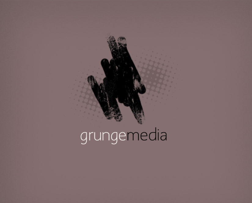 Grunge Media logo design free download