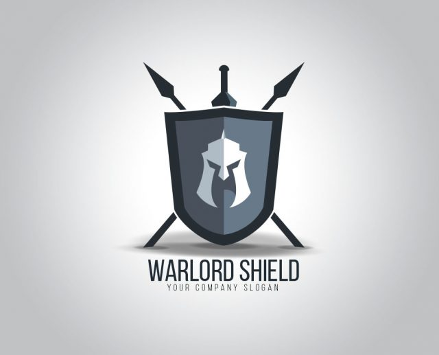 warrior shield logo design